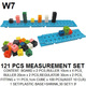 Educational math toy measurement stacking cubes