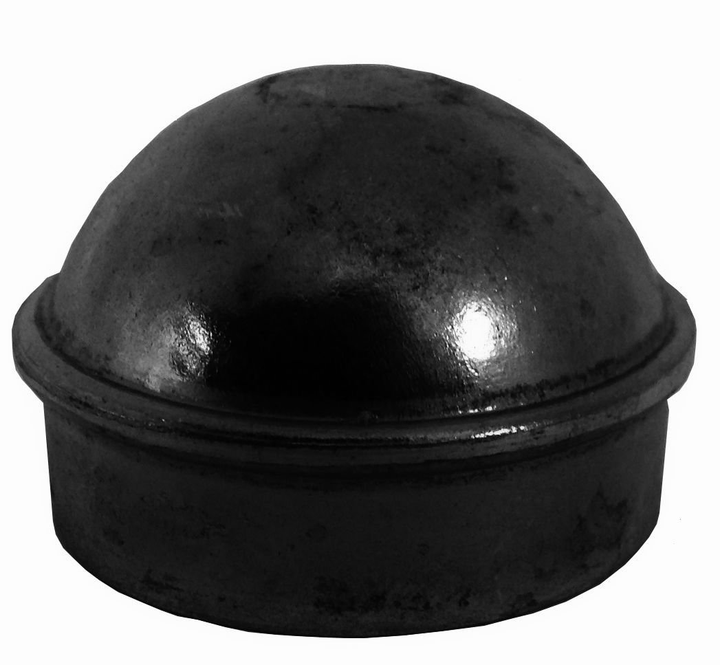"""2-3/8"""" Chain Link Fence Post Cap - Use for 2-3/8"""" Outside Diameter Post/Pipe - BLACK Powder Coated Aluminum Chain Link Post Cap"""