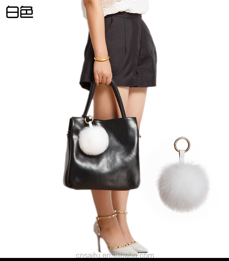 Extra Large Olive Green Arctic Fox Fur Ball Key Chain for Womens Bag or  Cellphone or 5b86b90291