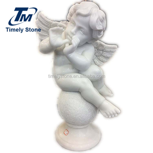 cute marble angel statue stone sculpture