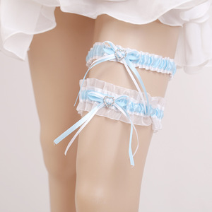 Wedding Bridal Garter with Satin sexy girls garter lace garters white for Brides