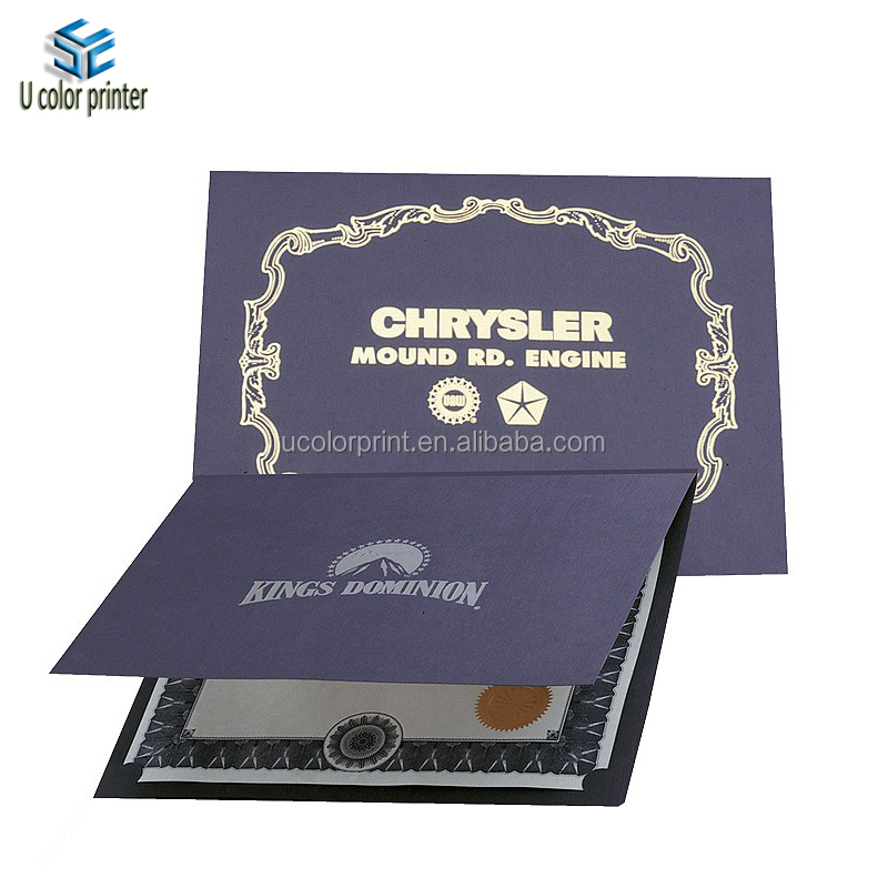 Made in China silver hot stamp pantone color graduation diploma cover