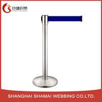 Stainless steel 2meters queue management post retractable belt stanchion