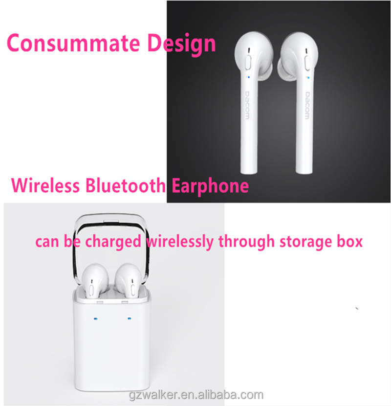 Luxury Design Top Quality Dacom Bluetooth Wireless Stereo Earphone Headphone for iphone 7 7 plus