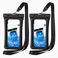 High quality outdoor clear sealed cell phone pouch PVC waterproof mobile phone bag
