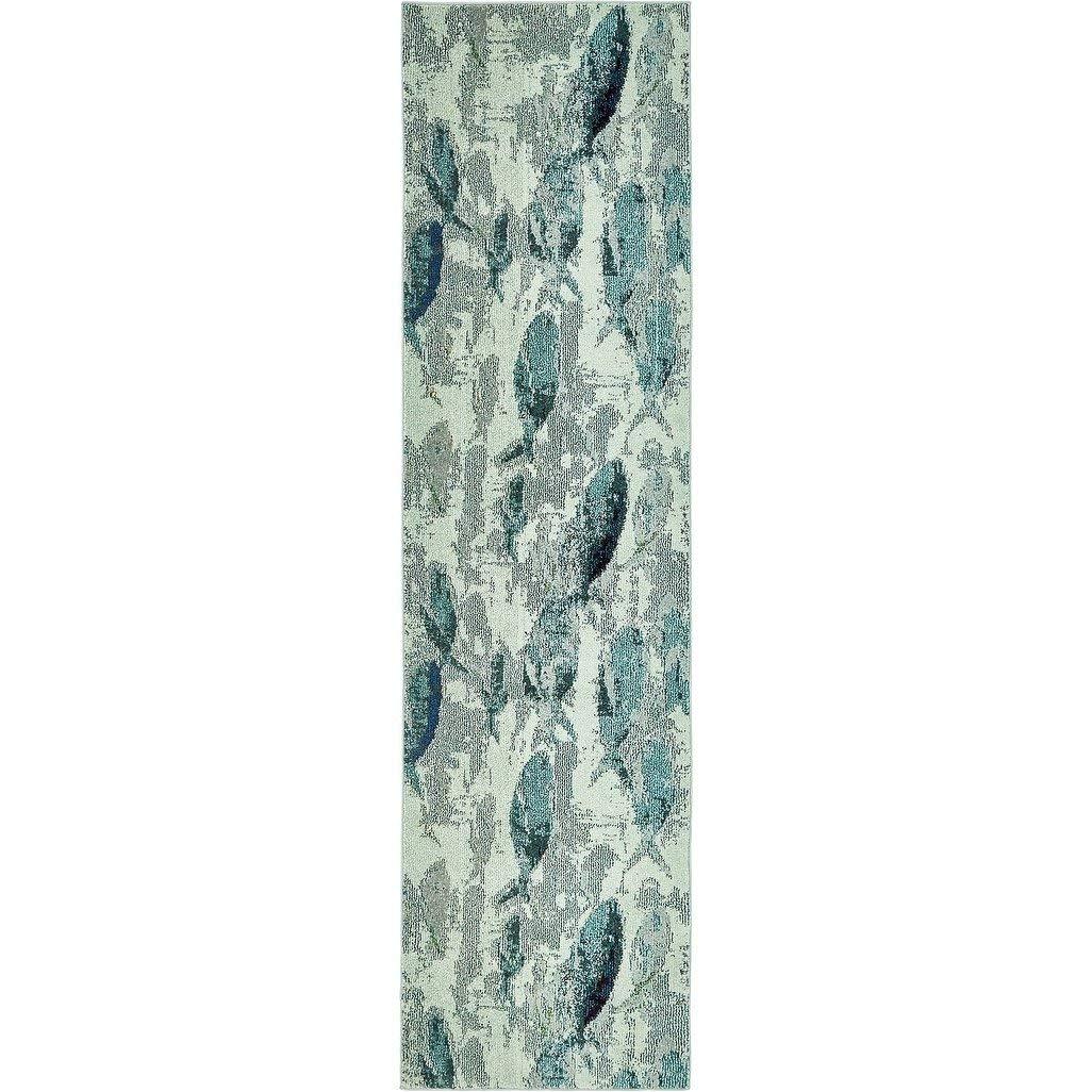Get Quotations Ln 2 7 X 10 Blue Grey Beach Theme Runner Rug Rectangle Indoor