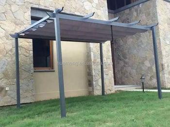 Aluminum Garden Patio Slide Pergola BBQ Canopy Gazebo Tent Outdoor