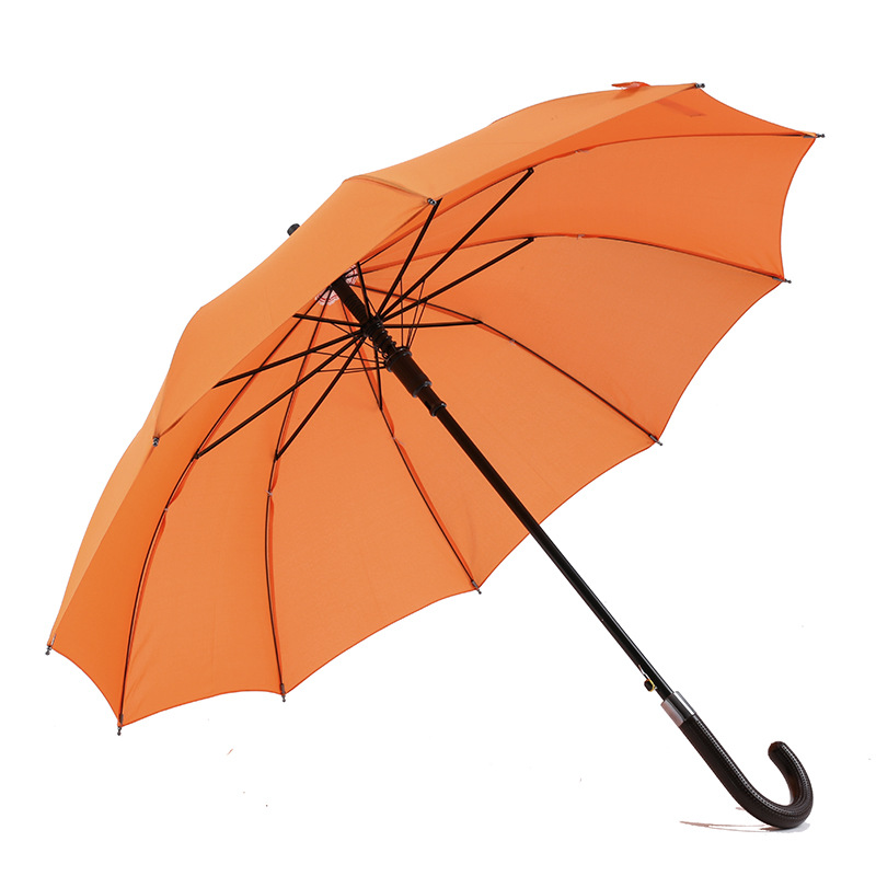 Unique high end Straight Advertise Promotion auto open and auto close straight long handle Umbrella