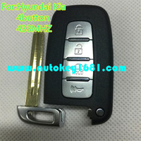 MS smart card 4 button remote control 433mhz for car hyundai I20 IX35 key