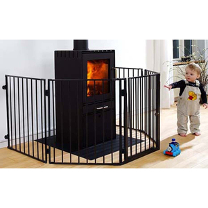 4-In-1 Super Wide Steel Baby Gat and Play Yard Fire Guard Pet Playpen
