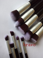 10pcs wholesale high quality frosted Ferrule professional cosmetics synthetic makeup brushes set kit