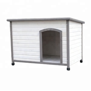 Feeder Opening Roof Dog House With Door Strip