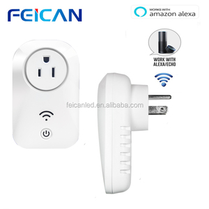 FEICAN LED universal remote control WiFi Enabled Electric Switch And Socket Electric Smart Wifi Plug Power Socket