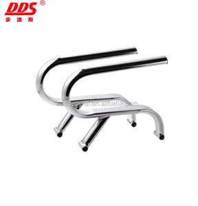 2017 High quality chrome metal office chair armrest spare parts