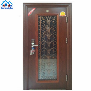 2019 new product Adjustable Galvanized hinge decorative apartment steel door