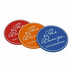 Customised 3D Silicone soft pvc colorful beer coasters for drink