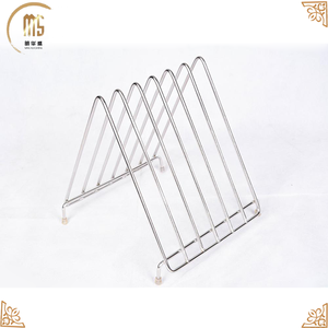 Dish Rack Kitchen Metal Wire Chrome Plated Dish Rack Plate Dish Drying Rack