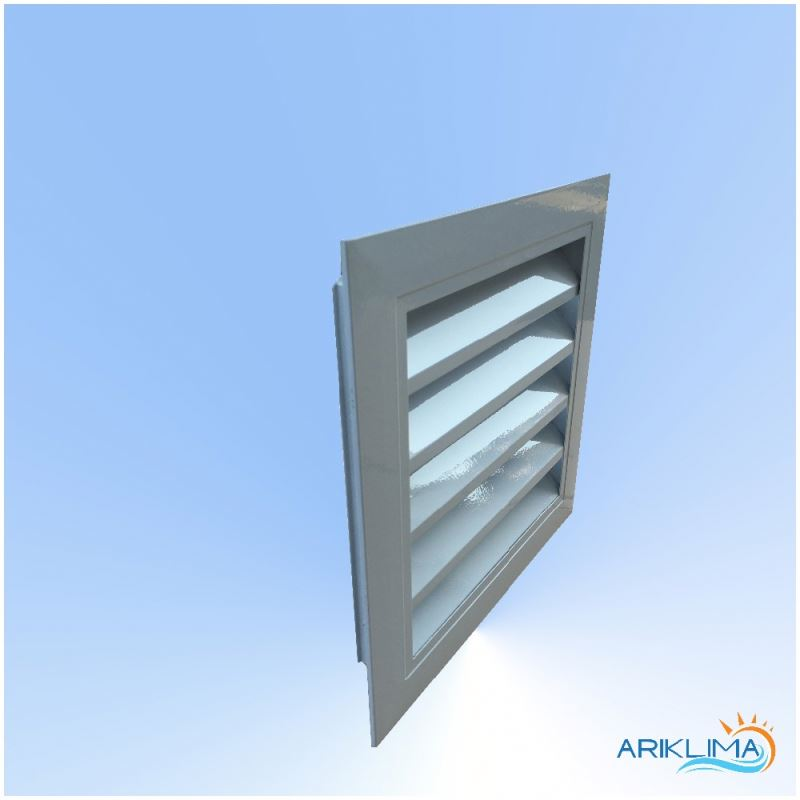 Weatherproof aluminium louver air intake fresh air grille for HVAC system WL