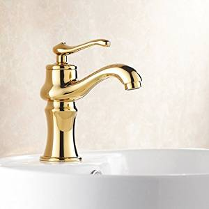 Furesnts Modern home kitchen and bathroom faucet European copper Faucets hot and cold Bathroom Sink Basin Mixer Faucets Faucets antique gold,(Standard G 1/2 universal hose ports)