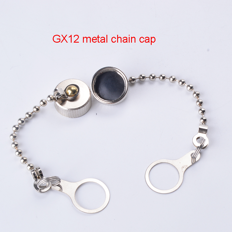 GX12 GX16 Aviation Plug Cover Waterproof Connector Plugs Dust Rubber / Metal Cap for GX12/16 Plug Circular Connector