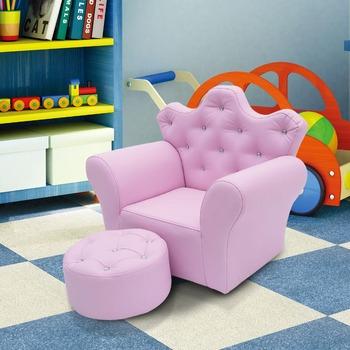 Rosa Farbe Dimond Prinzessin Stuhl Für Kinder Party Stuhl Mit Hocker