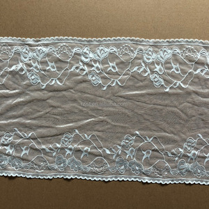 Super stretch 28pins machine lace elastic high quality lace trim for luxury lingerie
