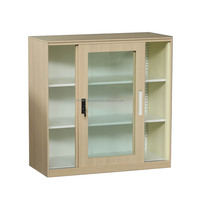 Document Storage Small steel cupboard cabinet with sliding glass door