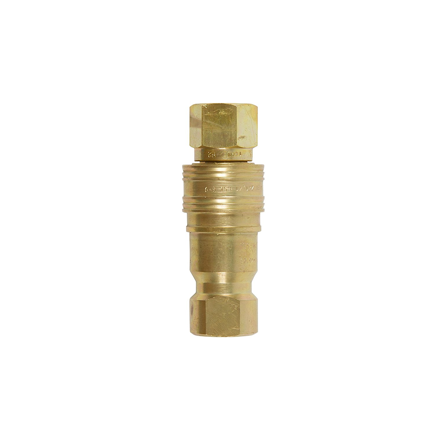 """Gas Fire Pit/ Heater BRASS HEAVY DUTY QUICK CONNECT/ DISCONNECT SUPPLY AND RECEIVING SIDES FOR PROPANE / NATURAL GAS (1/2"""" Complete Quick Connect)"""