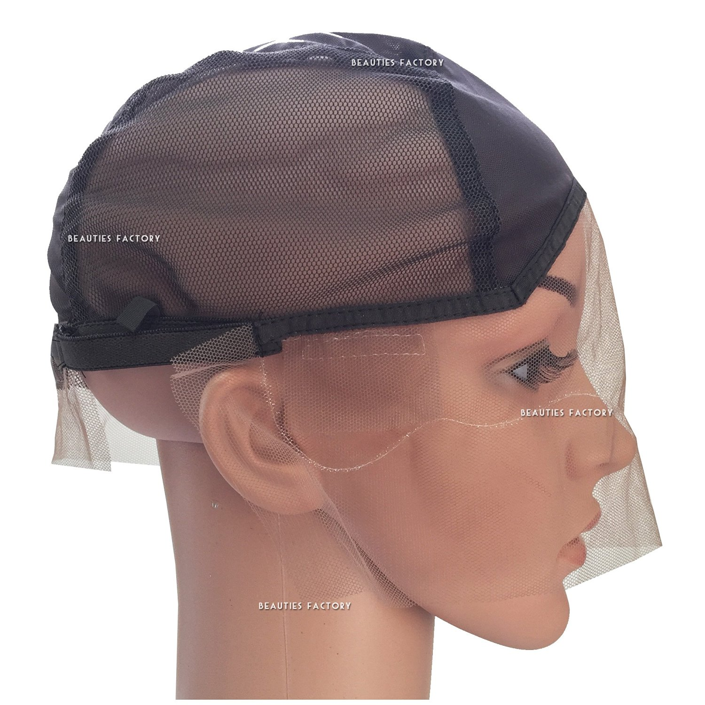 Beauties Factory DIY Front Lace Hair Weaving Wig Cap Foundation Base Net Mesh Adjustable Strap