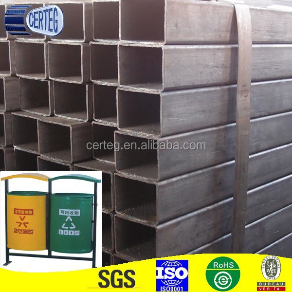 steel outdoor dustbin rectangular tubes