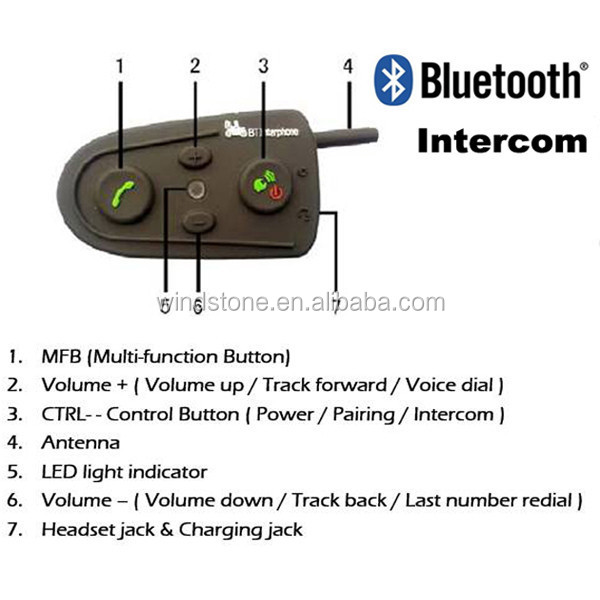 Original Factory BT helmet motorcycle bluetooth intercom
