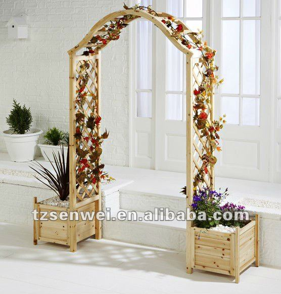 Arche en bois designs jardin arbours jardin treillis arc for Arc de jardin en bois