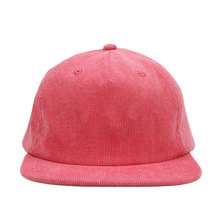 Custom Vintage vlakte Rode <span class=keywords><strong>Corduroy</strong></span> Snapback <span class=keywords><strong>Hoed</strong></span> Cap