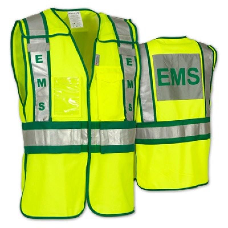 Paramedic High Visibility Hi Vis Viz Lightweight Jacket with Ambulance Badges