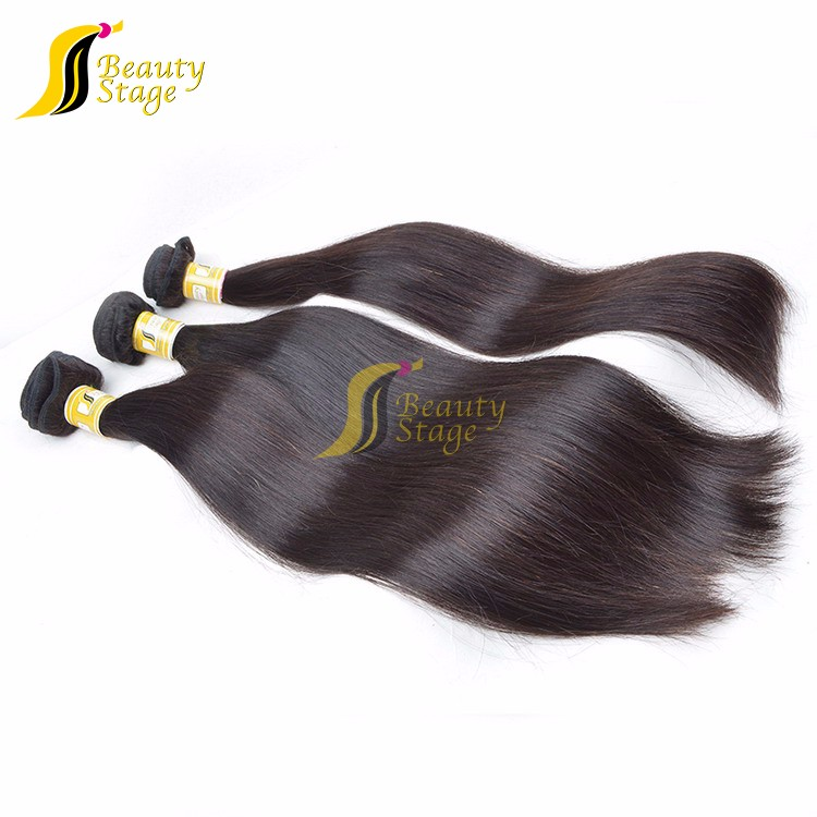 natural straight virgin remy 100% peruvian sew in human hair weave