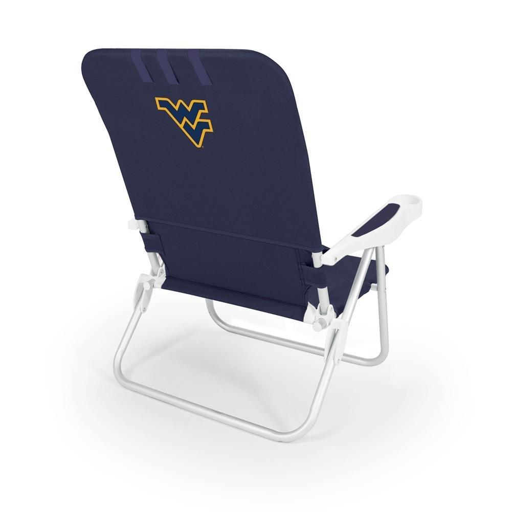 NCAA West Virginia Mountaineers Monaco Folding Beach Chair