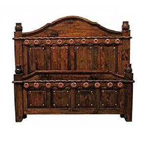 King Size Dark Walnut Grand Bed
