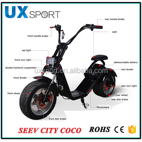 Electric powered 1000W 60V electric motorcycle adult for sales 2 wheel CE electric scooter