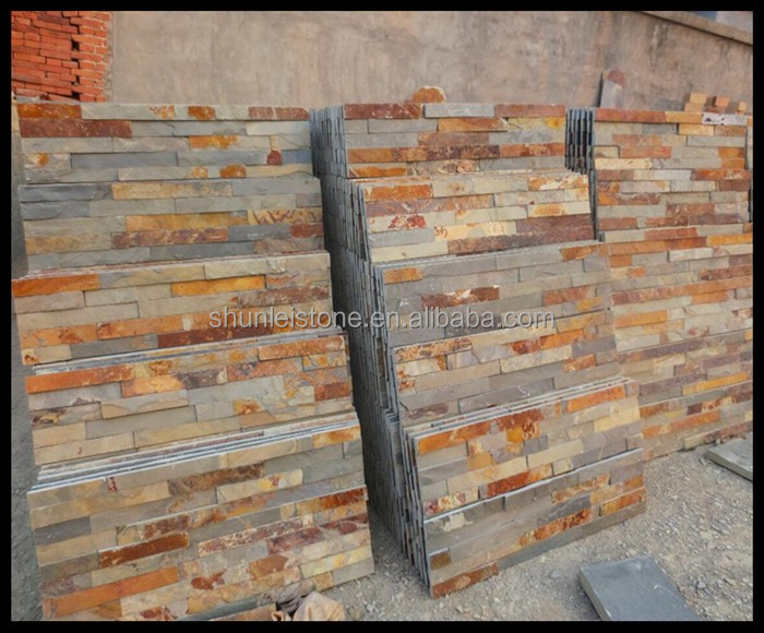 Bathroom Wall Panel Facade Slate Stone