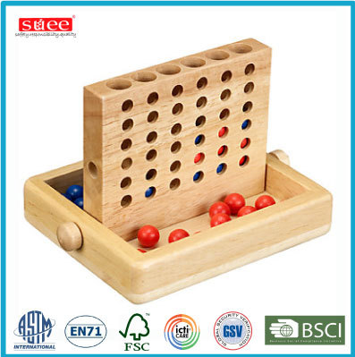 Wooden 4 IN ROW GAME