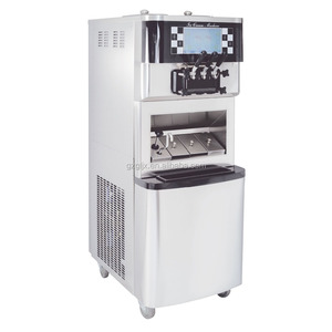 commercial soft serve ice cream machine Embraco Compressor soft ice cream 98L/H BQL-8688