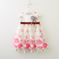 Customized hand made baby girl dress first birthday for fashion party children frocks desi with fast delivery