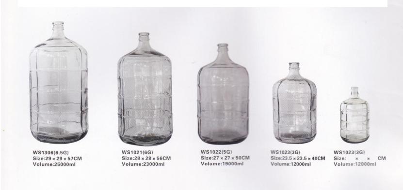 6 Gallon 5gallon 3gallon Glass Carboy Small Mouth Vase Big