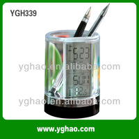 YGH339A usb hub for tablet, LED Charger crystal office pen holder