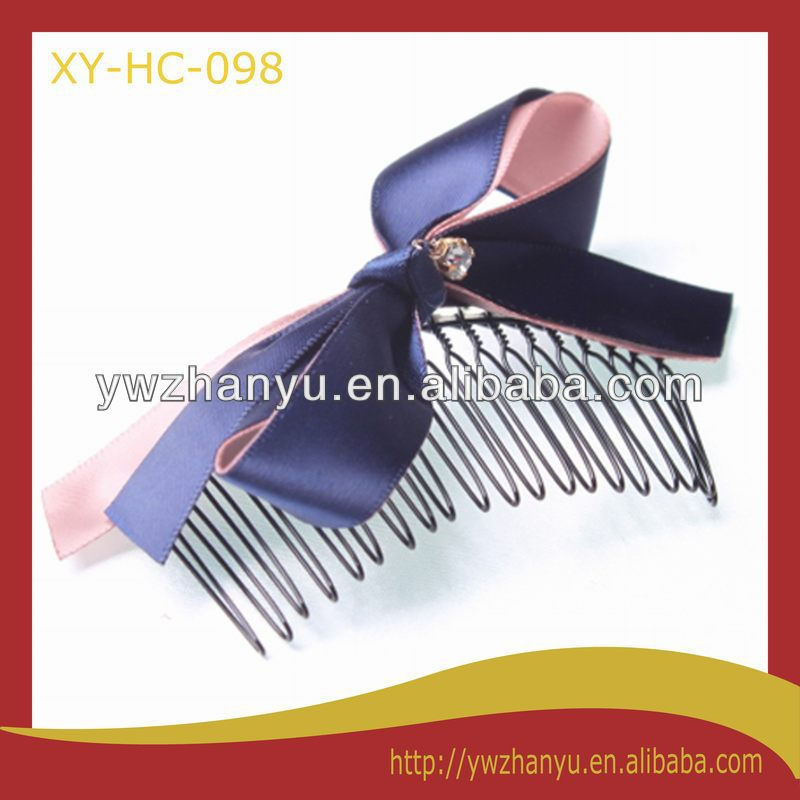 fashion hair accessories decorative hair comb with bow