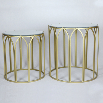 Round Gl Top Gold Metal Craft Center Coffee Table Product On Alibaba
