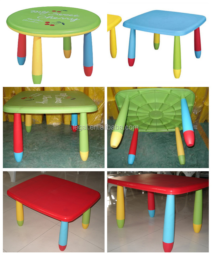Plastic Chairs And Round Table Baby Nursery Kids Children Furniture Chair