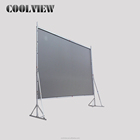 200 inch foldable fast frame large outdoor projection fast fold rear front fast folding projector projection screen with drapes