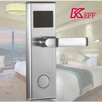 2017 New Keyless Card Swipe Security Electronic Rfid Reader Hotel Room Door Lock With Emergency Key