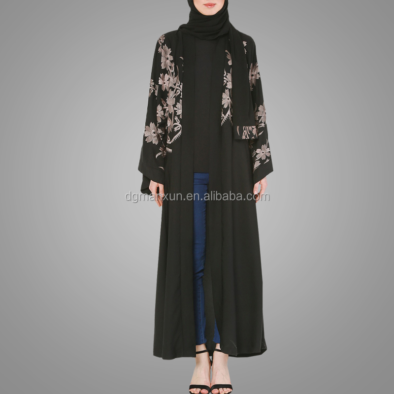 Pakistani Burqa Designs Front Open Abaya Classic Embroidery Moroccan